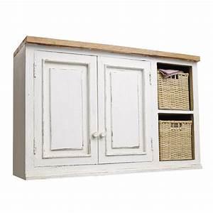 Meuble Haut Cuisine But : meuble haut de cuisine en manguier ivoire l 100 cm ~ Dailycaller-alerts.com Idées de Décoration