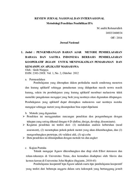 (DOC) Review jurnal | M R - Academia.edu