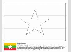 Ausmalbild Fahne von Myanmar Ausmalbilder kostenlos zum