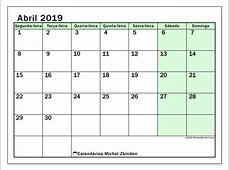 Calendário de abril de 2019 60SD Michel Zbinden pt