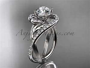 unique platinum diamond leaf and vine wedding ring With unique platinum wedding rings