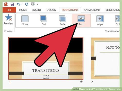 How To Add Transitions To Powerpoint 10 Steps (with Pictures