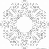 Knot Celtic Coloring Pages Mandala Pattern Knotwork Embroidery Round Template Patterns Designs Mandalas Transparent Print Clock Adult Border Donteatthepaste Star sketch template