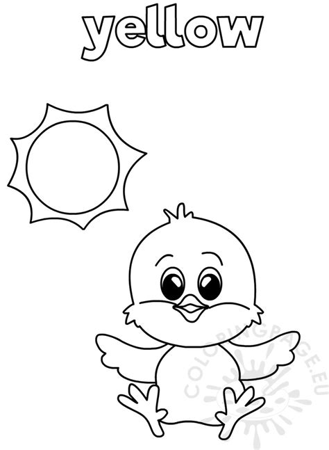 Coloring Worksheets For yellow coloring worksheet for kindergarten coloring page