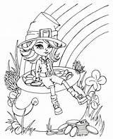 Coloring Pages Fairy Leprechaun Pot Sheets Colouring Gold Pie Books Cutie Stamps Know Digi sketch template