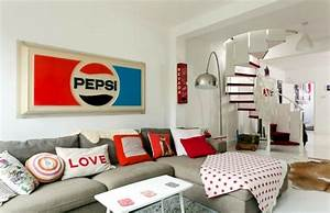 Installation in retro style – furniture and the colors of