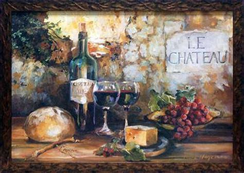 framed art print tuscany style grapes wine home kitchen french decor tuscan wine inspirations