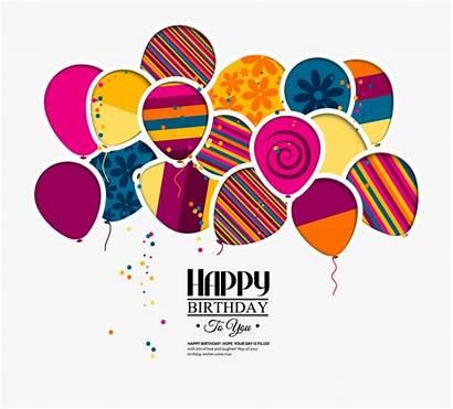 Cake Birthday Balloons Invitation Balloon Vector Greeting