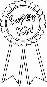 Ribbon Coloring Pages Week Clipart Trophy Award Languages Medals Success Esl Superkid Sprinters Games Gym Think Printable Ribbons Outline Drawing sketch template