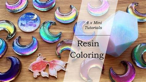 mini resin tutorials resin coloring color shifting