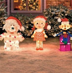 Rudolph Outdoor Decorations - rudolph the nosed reindeer friends tinsel outdoor