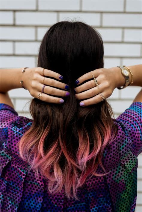 Ombre Nails Dip Dye Hair Via Dip