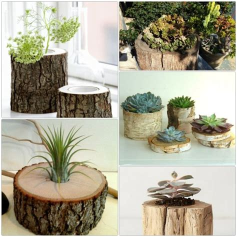 Gartendeko Holz Baumstamm by Diy Projekte Baumstamm Deko In Form Blument 246 Pfen