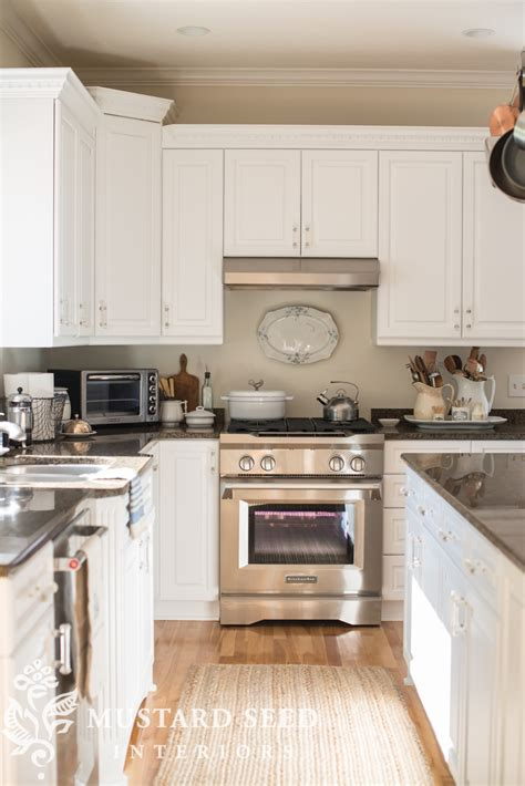 painted kitchen cabinets reveal  mustard seed