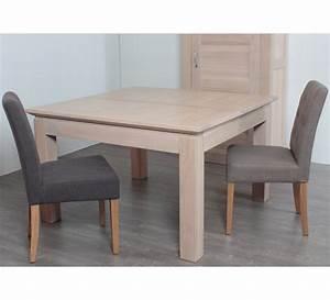 table carree avec allonge chene massif quotstockholmquot 3119 With meuble salle À manger avec table salle a manger 80 cm de large