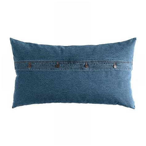ikea ektorp nabben  filled cushion jeans denim lumbar