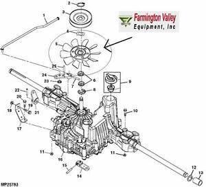 John Deere X300 X304 Lt Ltr Transmission Cooling Fan New