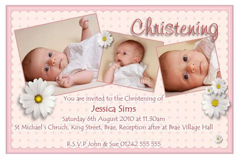 Christening Invitations Template • Business Template Ideas
