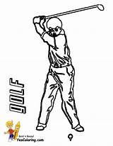 Golf Coloring Printable Golfer Pages Yescoloring Pga Gusto Boys Sports sketch template