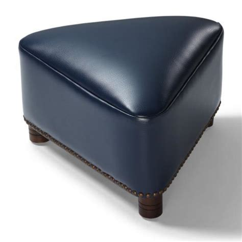 Leather Ottoman Footstool by Textured Bonded Leather Modern Artistic Triangle Footstool
