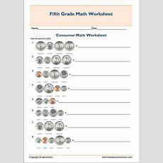 Printable Grade 5 Consumer Mathematics Worksheet