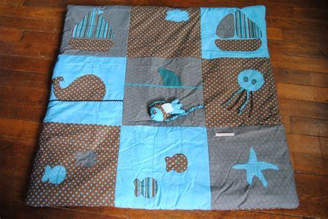 tapis d 233 veil pour b 233 b 233 th 232 me mer turquoise chocolat jeux peluches doudous par tilouelle