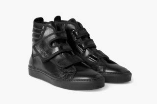 raf simons high top black leather sneaker highsnobiety
