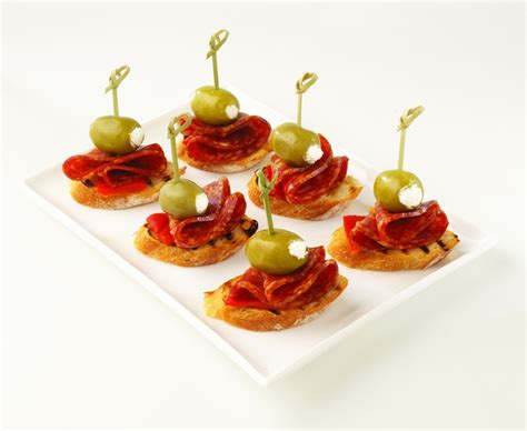 mini canape ideas olive salami canapes delicious enough for a