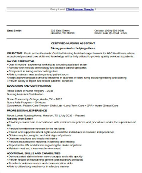Entry Level Nursing Resume Objective by Nursing Resume Objective Sle 8 Exles In Word Pdf