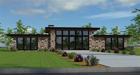 contemporary 2 bedroom house plans modern two bedroom house plan 18534 | Black Onyx ml