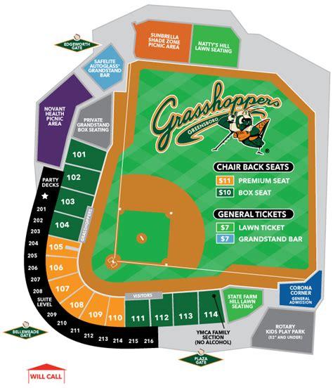 Stadium Map | Greensboro Grasshoppers Ballpark