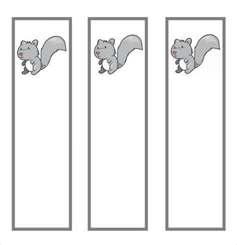 FREE 6+ Sample Blank Bookmarks in PDF   MS Word