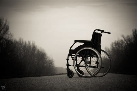 photo wheelchair lonely physical  image