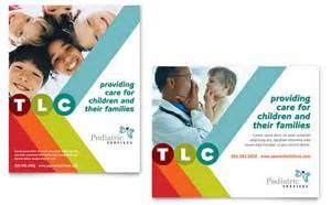 care design pediatrician child care poster template design