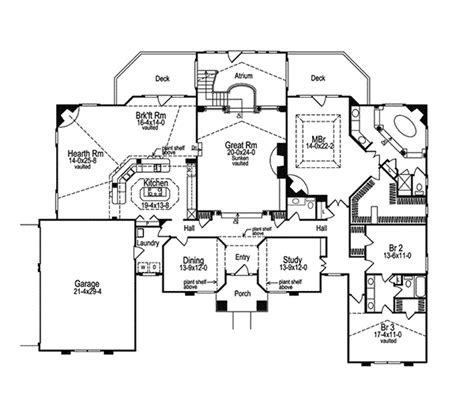 Delightful Symmetrical Floor Plans by Clayton Atrium Ranch Home Plan 007d 0002 House Plans And