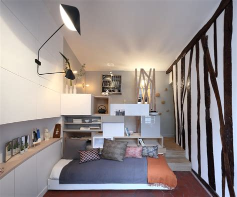 Tiny Apartments : Tiny Paris Apartment Transformed Into A Functional Home