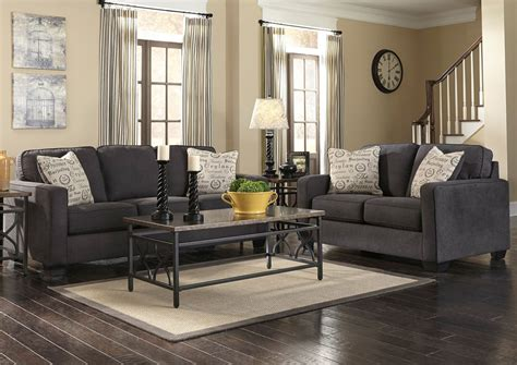 Levon Charcoal Sofa Ashley Furniture by Jennifer Convertibles Sofas Sofa Beds Bedrooms Dining