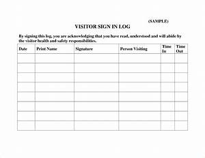 visitors register book template With visitors log book template