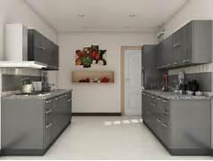 Moduler Kitchen Design by Grey Modular Kitchen Designs Parallel Shaped Modular Kitchen Designs Pint