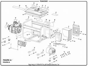 Homelite Ps902500d Powerstroke Generator Parts Diagram For