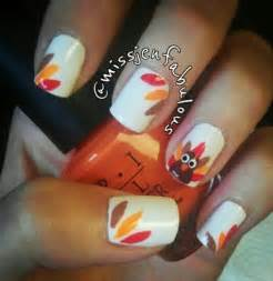 Cute thanksgiving themed nails
