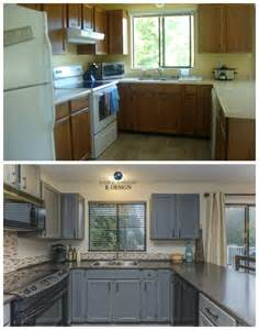 Chelsea gray is my favorite medium gray paint color. Kitchen Update Ideas - Painted Cabinets - From Oak to Gray