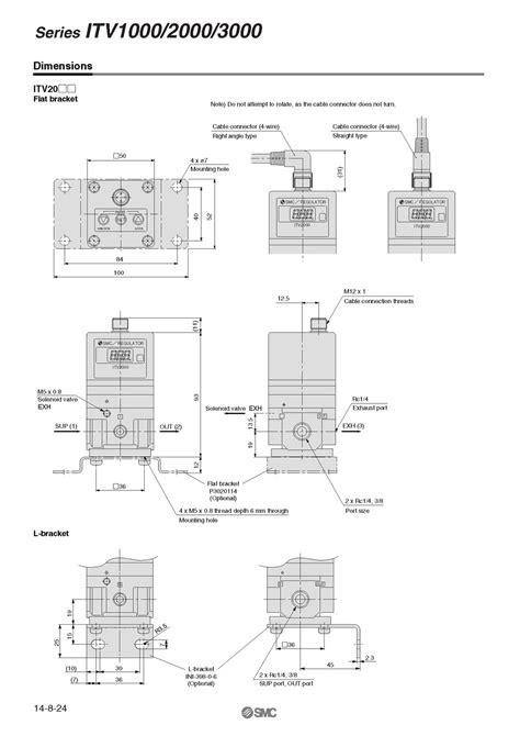 ITV2050 012S ELECTRO/PNEUMATIC REGULATOR, 24VDC 1/4 PORT