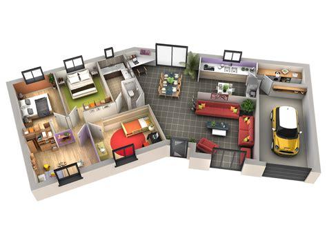 cuisine plan maison contemporaine cerise genoise villas
