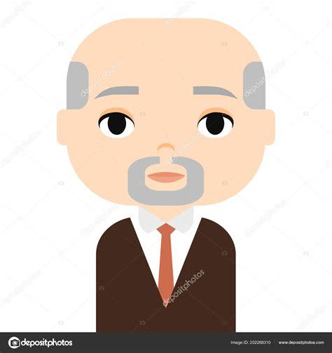 Grandfather Man Avatar Male Cartoon Character Adult