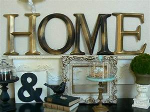 Pottery barn style wall letters quot home by shabby chic