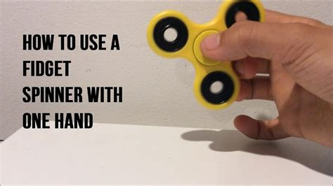 How To Use A Fidget Spinner With One Hand Youtube