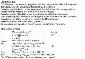 Kreiskegel Berechnen : oberflache eines zylinders achse oberflche und volumen berechnen sie das volumen fr d ud cm ~ Themetempest.com Abrechnung