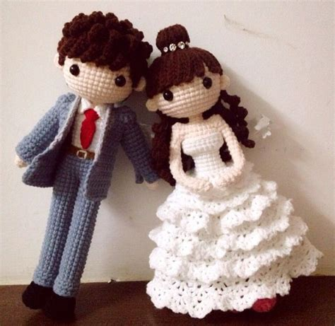amigurumi bride  groom wedding dolls inspiration