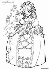 Coloring Glitter Force Pages Colouring Printable Princess Kingdom Popular Khateerah sketch template